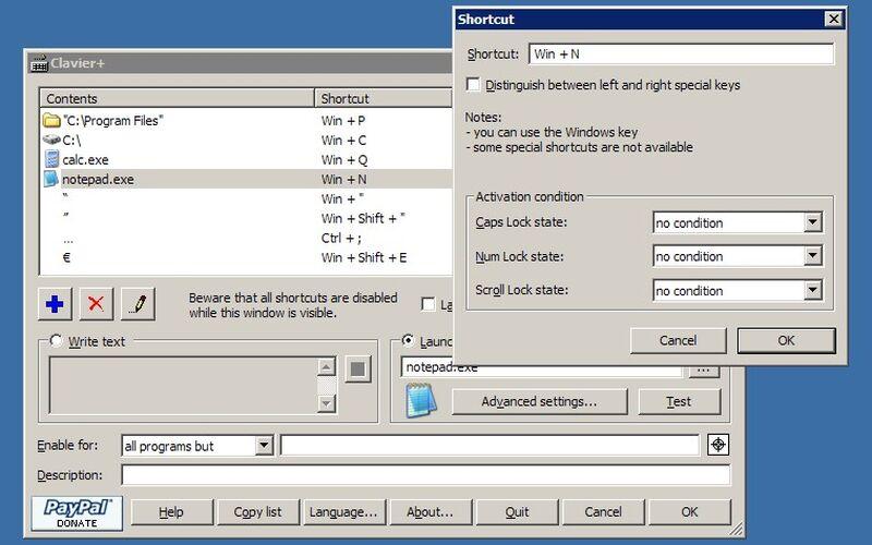 Скриншот 1 программы Clavier+