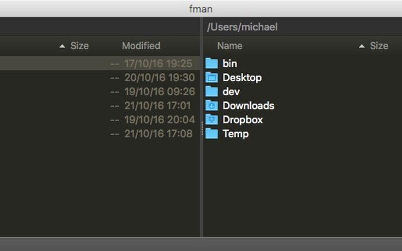 Скриншот 1 программы fman