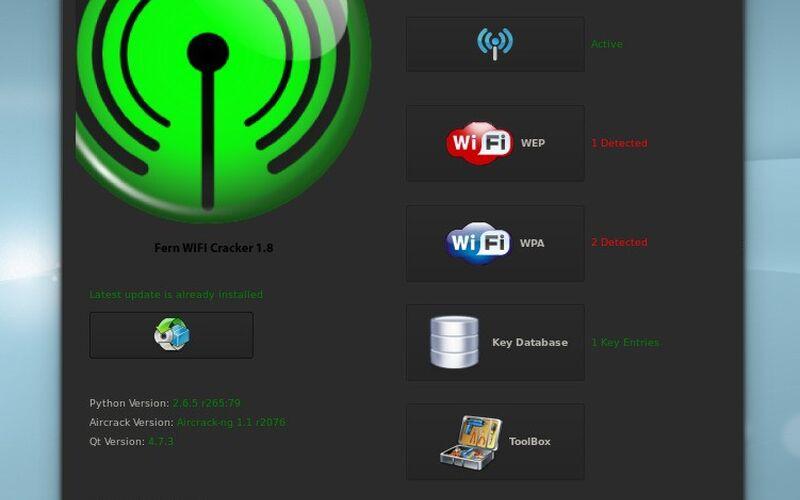 Скриншот 1 программы Fern Wifi Cracker