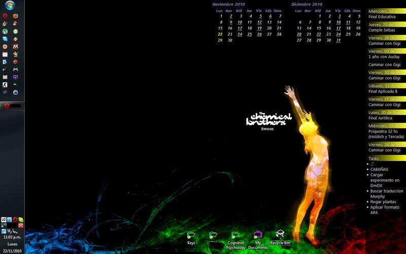 Скриншот 1 программы Active Desktop Calendar