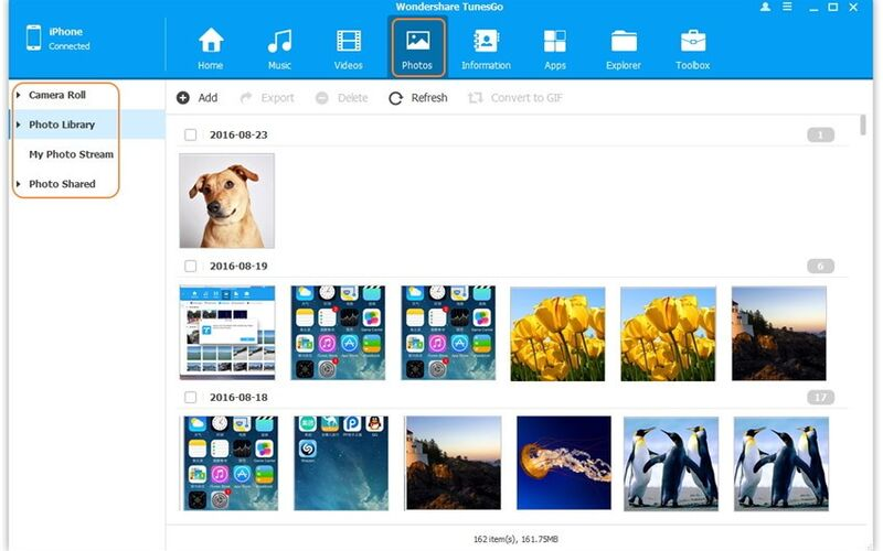 Скриншот 1 программы Wondershare TunesGo