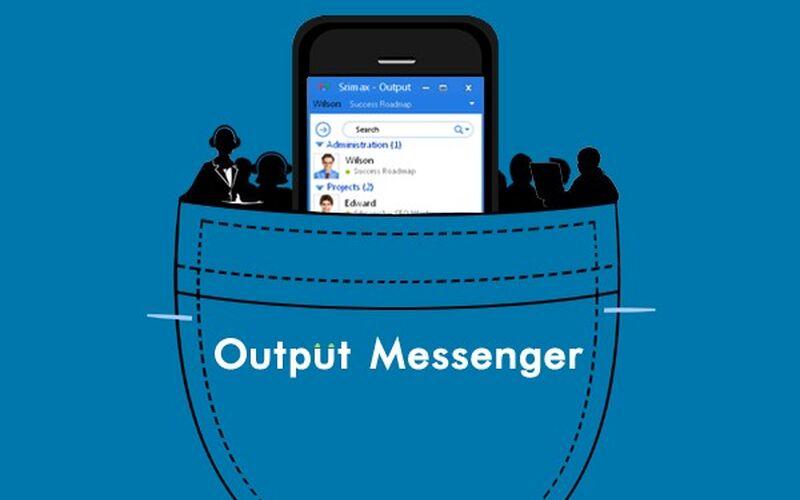 Скриншот 1 программы Output Messenger