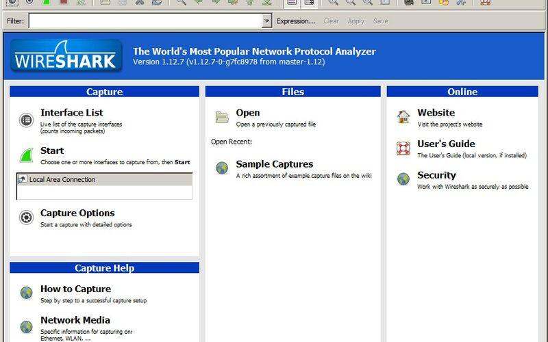 Скриншот 1 программы Wireshark