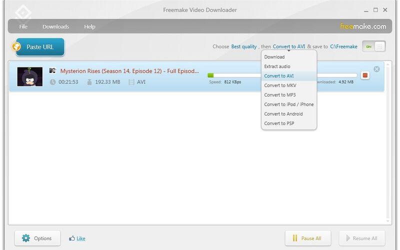 Скриншот 1 программы Freemake Video Downloader
