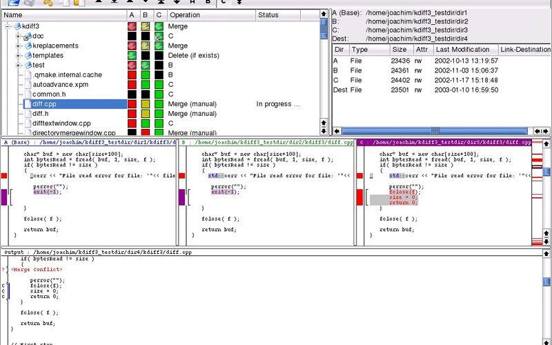 Скриншот 1 программы kdiff3