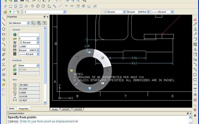 Скриншот 1 программы DraftSight