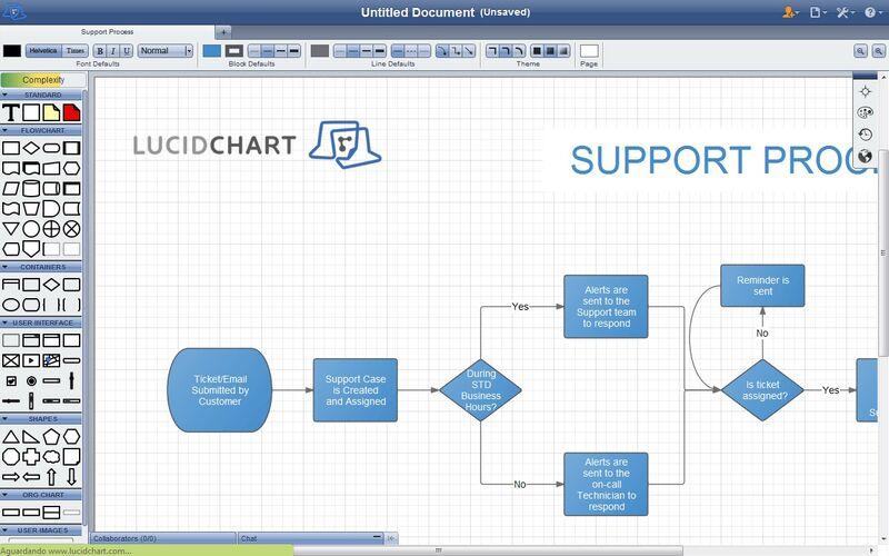 Скриншот 1 программы Lucidchart