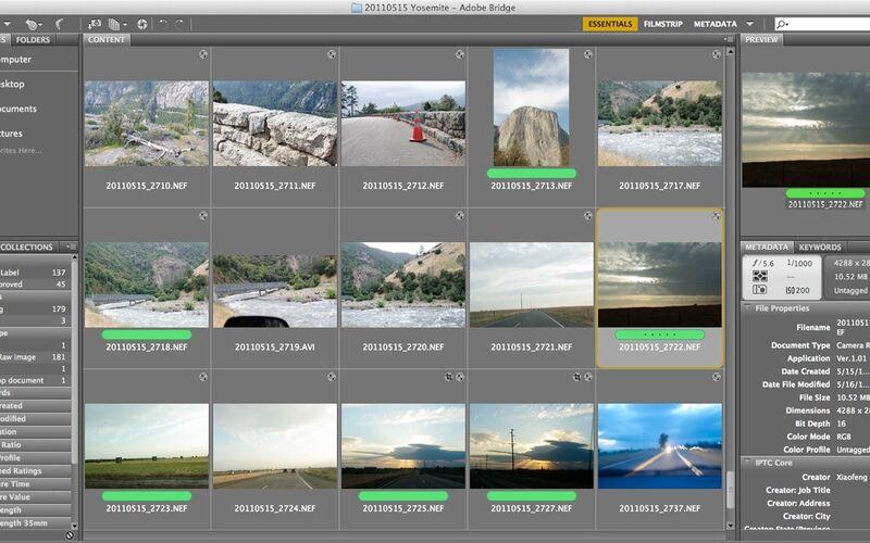 Скриншот 1 программы Adobe Bridge
