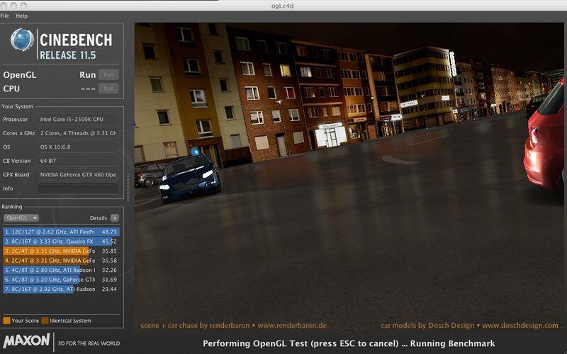Скриншот 1 программы Cinebench