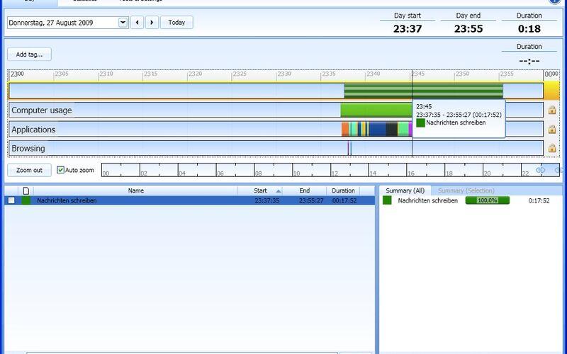 Скриншот 1 программы ManicTime