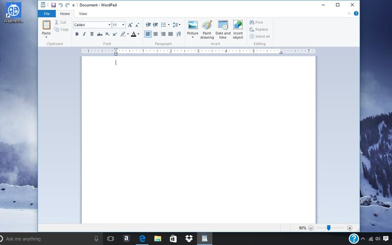 Скриншот 1 программы WordPad