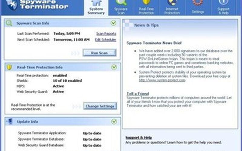 Скриншот 1 программы Spyware Terminator