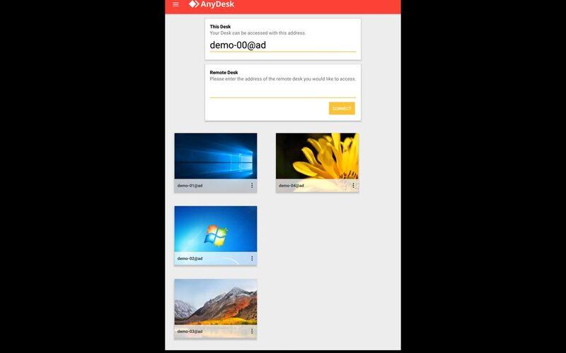 Скриншот 1 программы AnyDesk
