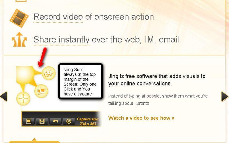 Скриншот 1 программы Jing