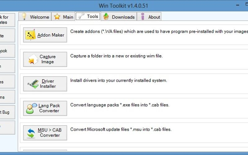 Скриншот 1 программы Win Toolkit