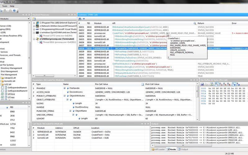 Скриншот 1 программы API Monitor