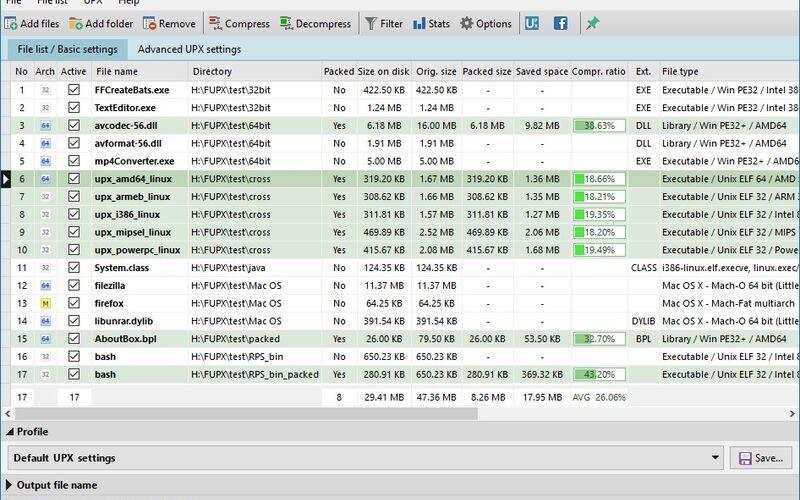 Скриншот 1 программы Free UPX
