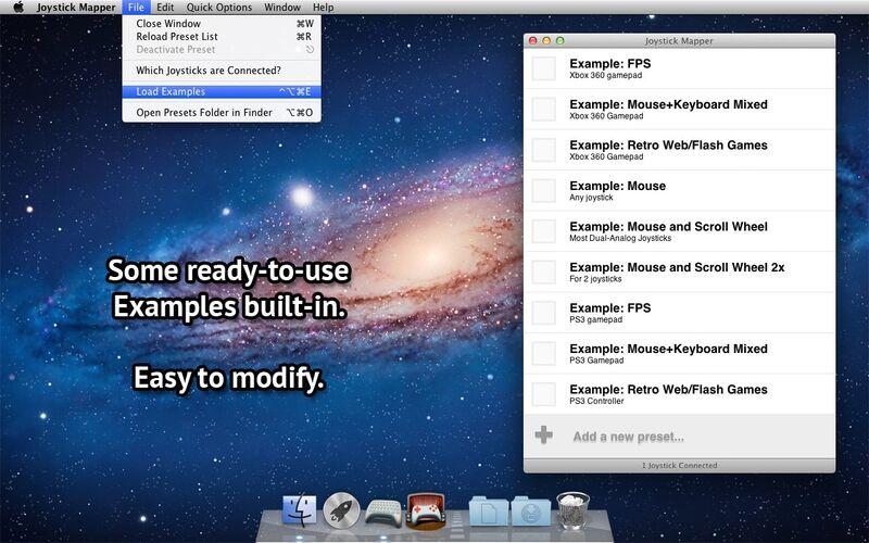 Скриншот 1 программы Joystick Mapper