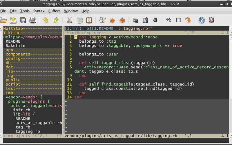 Скриншот 1 программы Vim