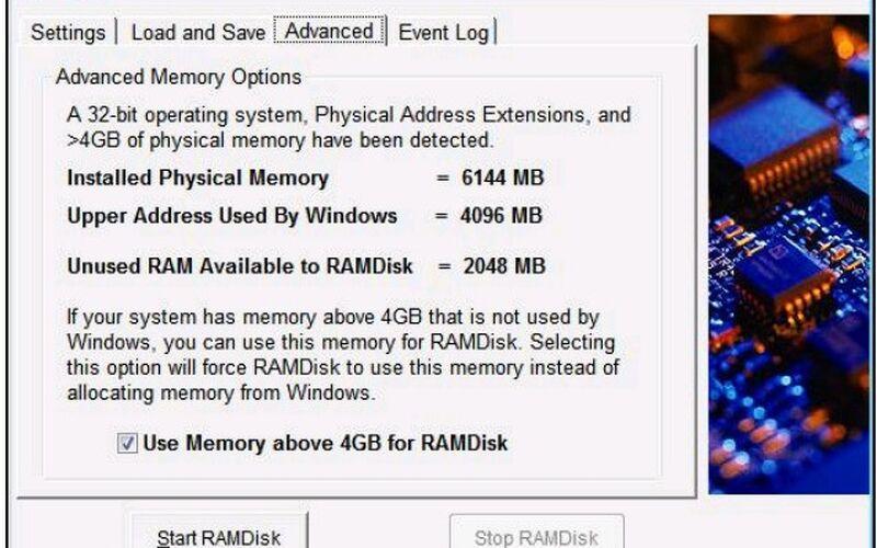 Скриншот 1 программы Dataram RAMDisk