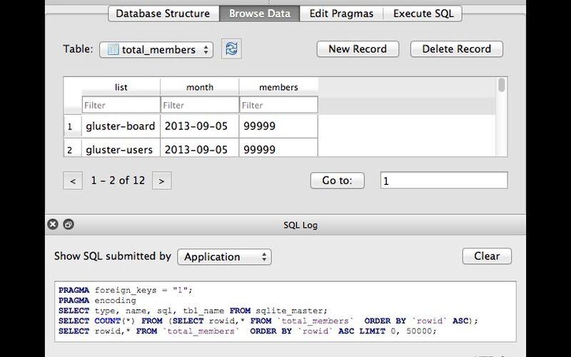 Скриншот 1 программы DB Browser for SQLite