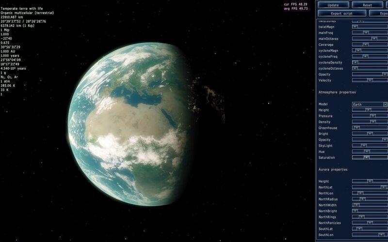 Скриншот 1 программы Space Engine