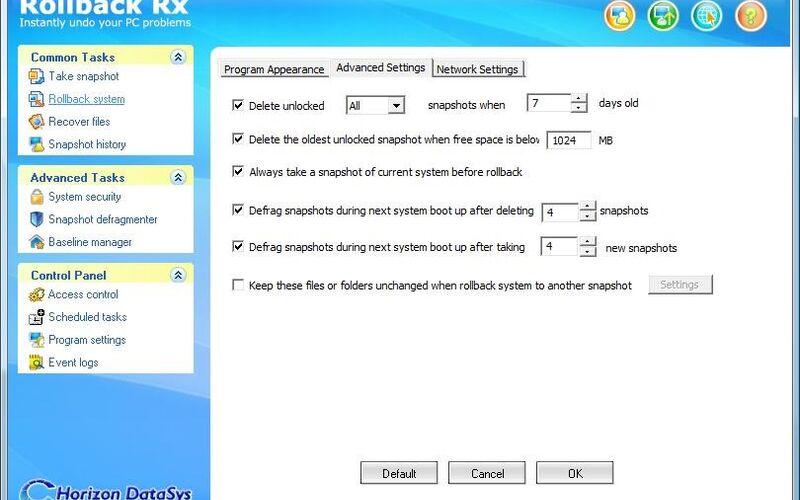 Скриншот 1 программы Rollback Rx