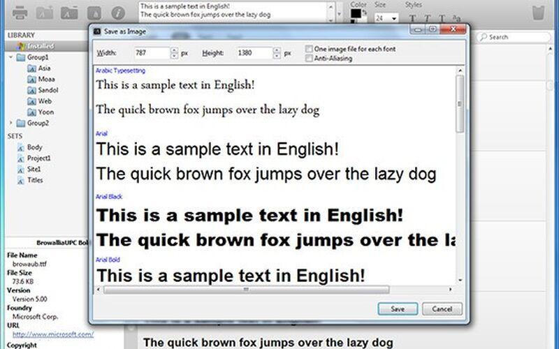 Скриншот 1 программы NexusFont