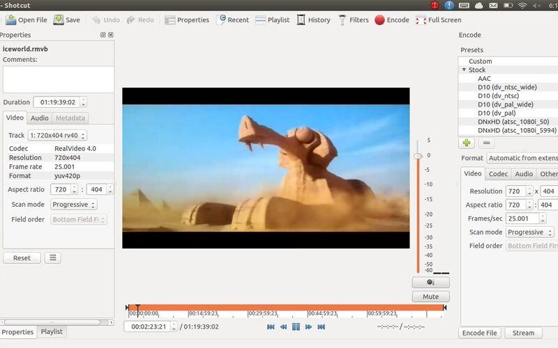 Скриншот 1 программы Shotcut