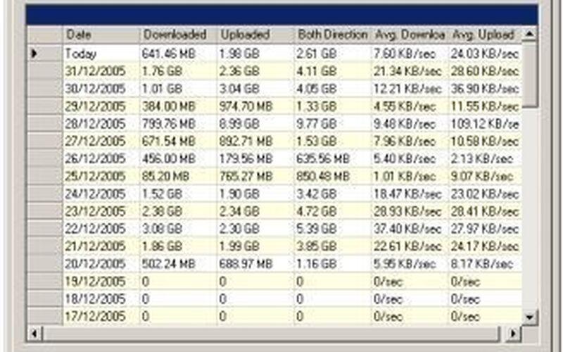 Скриншот 1 программы BitMeter