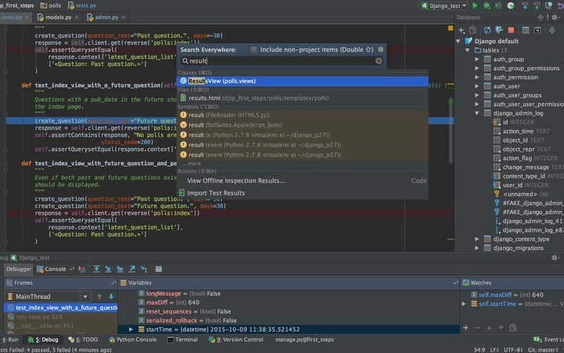 Скриншот 1 программы PyCharm
