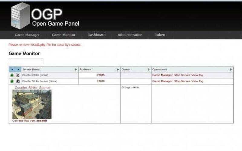 Скриншот 1 программы Open Game Panel