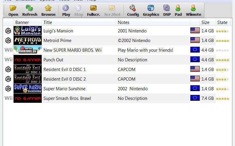 Скриншот 1 программы Dolphin Emulator