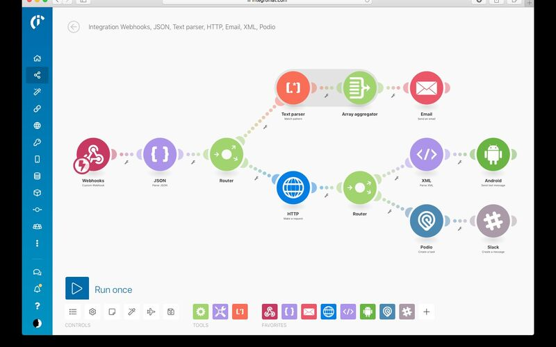 Скриншот 1 программы Integromat