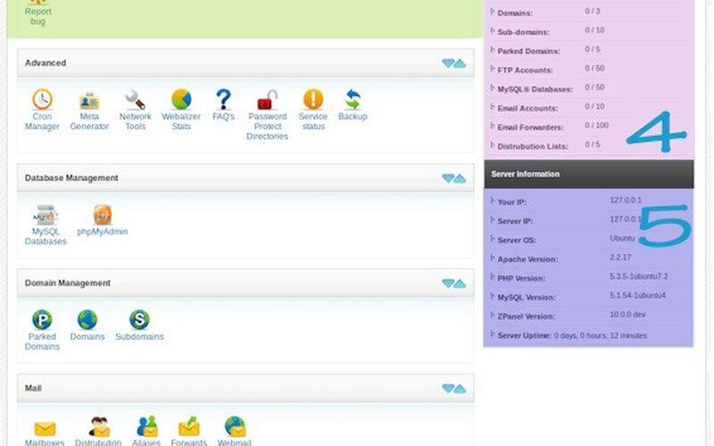 Скриншот 1 программы ZPanel