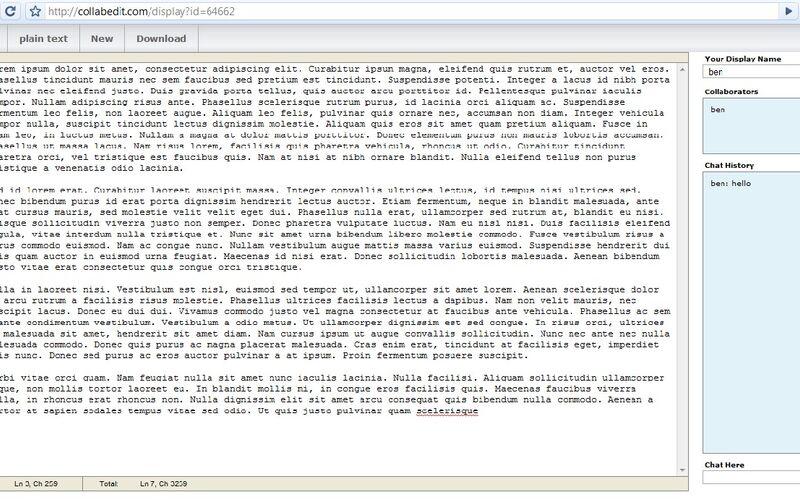 Скриншот 1 программы collabedit
