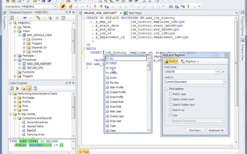 Скриншот 1 программы dbForge Studio for Oracle