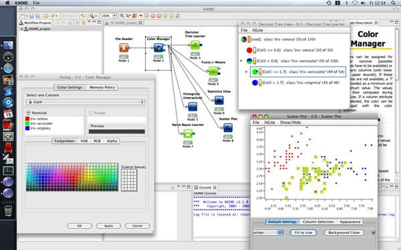 Скриншот 1 программы KNIME