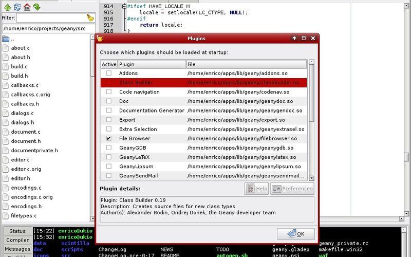 Скриншот 1 программы Geany