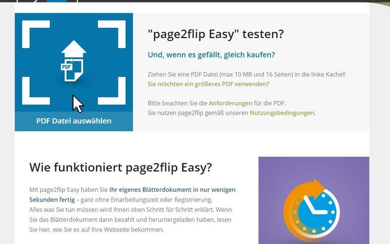 Скриншот 1 программы page2flip publishing solution