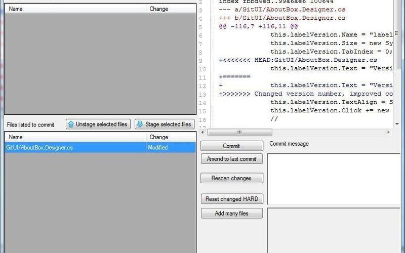 Скриншот 1 программы Git Extensions