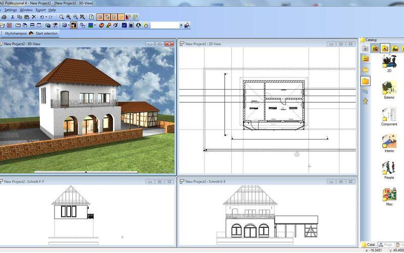 Скриншот 1 программы Ashampoo 3D CAD Professional