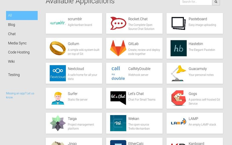Скриншот 1 программы Cloudron