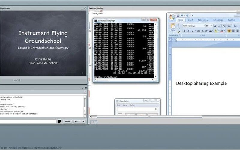 Скриншот 1 программы BigBlueButton
