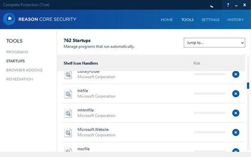 Скриншот 1 программы Reason Core Security