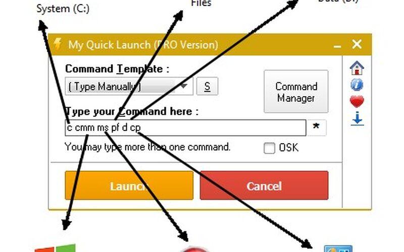 Скриншот 1 программы FCorp My Quick Launch