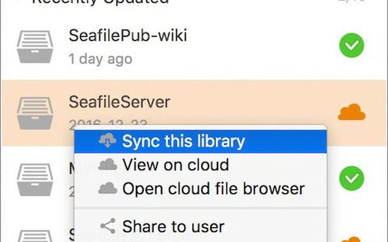 Скриншот 1 программы Seafile