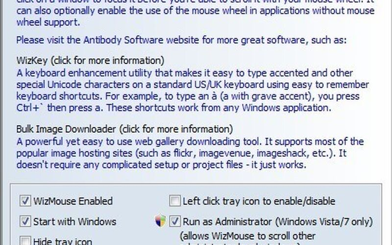 Скриншот 1 программы WizMouse