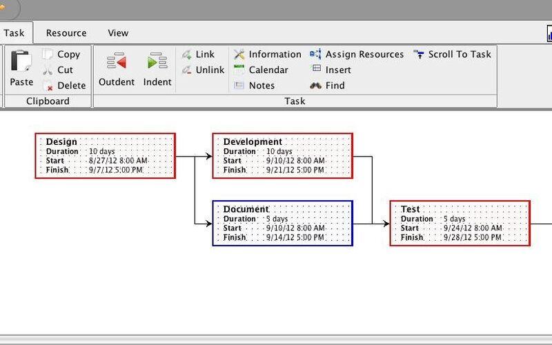 Скриншот 1 программы ProjectLibre