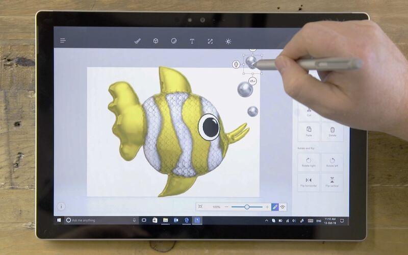 Скриншот 1 программы Paint 3D
